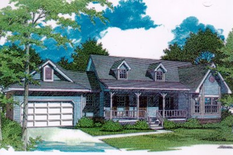 Architectural House Design - Traditional Exterior - Front Elevation Plan #14-123