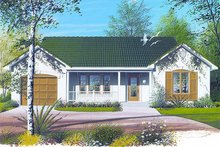 Ranch Exterior - Front Elevation Plan #23-699