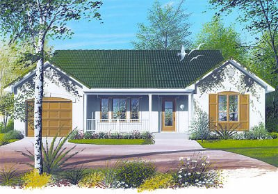 Ranch Exterior - Front Elevation Plan #23-699 - Houseplans.com