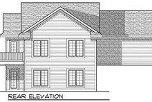 Cottage Exterior - Rear Elevation Plan #70-857