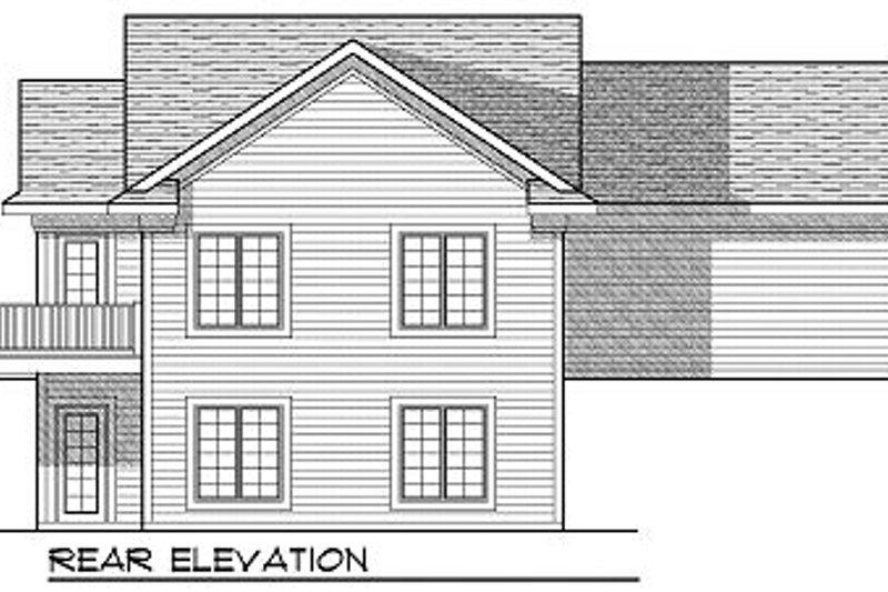 Cottage Exterior - Rear Elevation Plan #70-857 - Houseplans.com