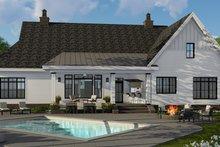 House Plan Design - Farmhouse Exterior - Rear Elevation Plan #51-1143