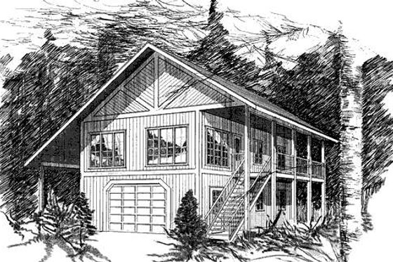 Tudor Exterior - Front Elevation Plan #409-1118