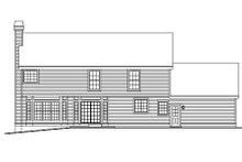 Home Plan Design - Country Exterior - Rear Elevation Plan #57-183