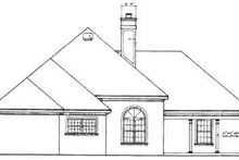 European Exterior - Rear Elevation Plan #45-286