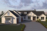 Farmhouse Style House Plan - 3 Beds 2.5 Baths 3201 Sq/Ft Plan #1070-4 Exterior - Front Elevation