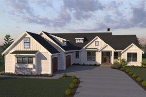 Farmhouse Exterior - Front Elevation Plan #1070-4