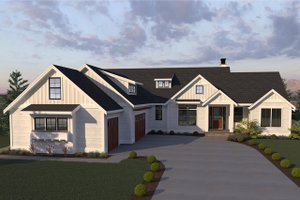 Dream House Plan - Farmhouse Exterior - Front Elevation Plan #1070-4