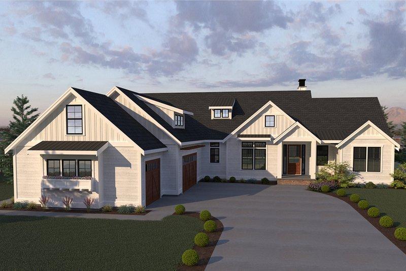 House Plan Design - Farmhouse Exterior - Front Elevation Plan #1070-4