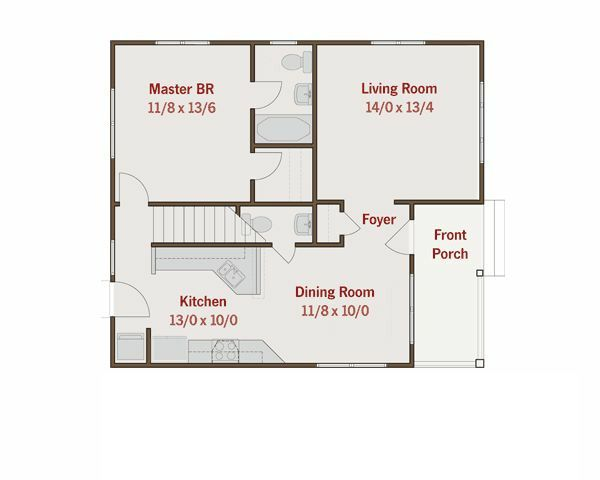 Craftsman Floor Plan - Main Floor Plan Plan #461-17