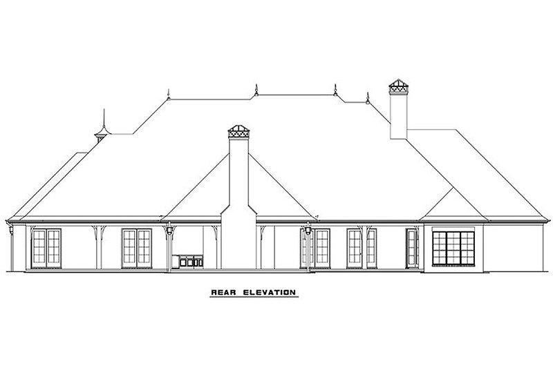 European Exterior - Rear Elevation Plan #17-2387 - Houseplans.com