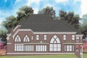 European Style House Plan - 5 Beds 4 Baths 3698 Sq/Ft Plan #119-204 Exterior - Rear Elevation