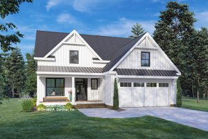 Farmhouse Exterior - Front Elevation Plan #929-1136