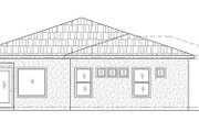 Adobe / Southwestern Style House Plan - 3 Beds 2.5 Baths 1680 Sq/Ft Plan #24-294 Exterior - Rear Elevation