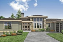 Dream House Plan - Contemporary Exterior - Front Elevation Plan #124-1171