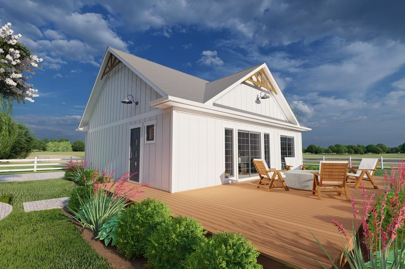 Farmhouse Style House Plan - 1 Beds 1.5 Baths 1024 Sq/Ft Plan #126-176