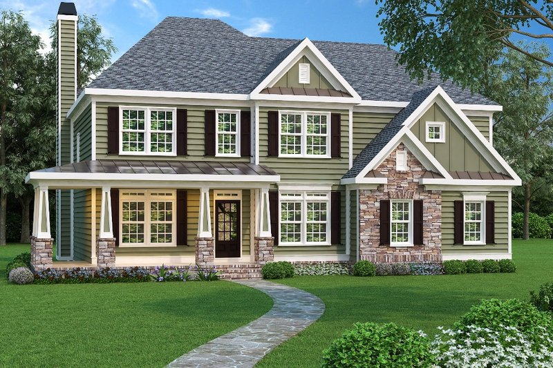 Traditional Exterior - Front Elevation Plan #419-159 - Houseplans.com