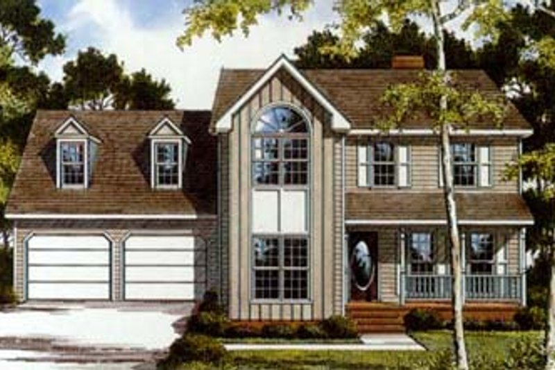 Traditional Style House Plan - 4 Beds 3 Baths 2058 Sq/Ft Plan #10-236 Exterior - Front Elevation