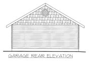 Traditional Style House Plan - 0 Beds 0 Baths 591 Sq/Ft Plan #117-716 Exterior - Rear Elevation