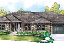 Ranch Exterior - Front Elevation Plan #124-856