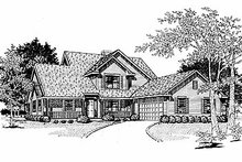 House Plan Design - Traditional Exterior - Front Elevation Plan #70-319