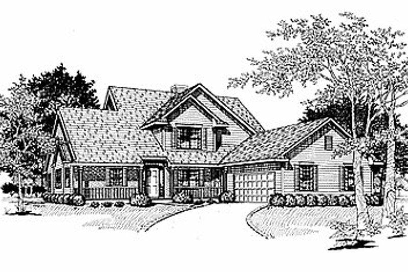 Traditional Exterior - Front Elevation Plan #70-319 - Houseplans.com