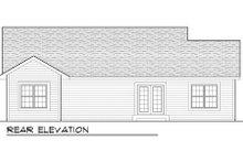 Craftsman Exterior - Rear Elevation Plan #70-1012