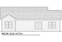 Craftsman Exterior - Rear Elevation Plan #70-1012