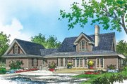 Country Style House Plan - 3 Beds 2.5 Baths 1963 Sq/Ft Plan #929-1062 Exterior - Rear Elevation