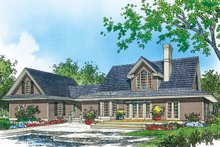 Country Exterior - Rear Elevation Plan #929-1062