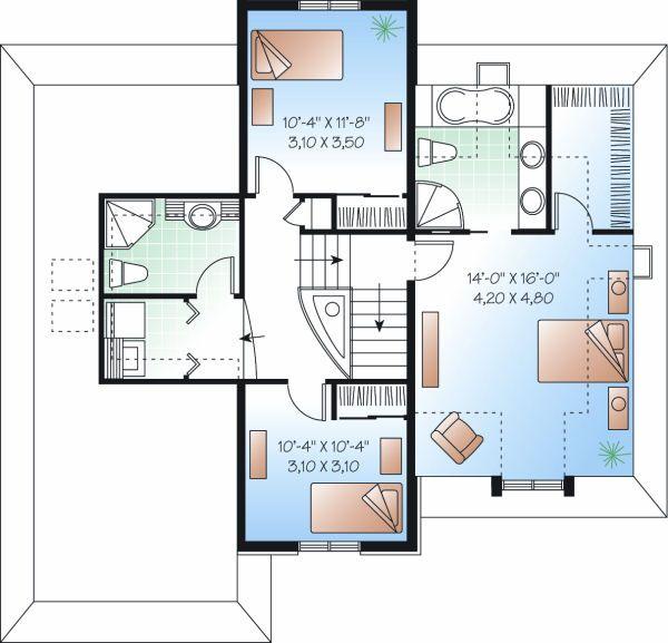 House Plan Design - European Floor Plan - Upper Floor Plan #23-804