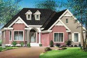 European Style House Plan - 2 Beds 2 Baths 1421 Sq/Ft Plan #25-4110 Exterior - Front Elevation