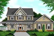 Country Style House Plan - 4 Beds 3.5 Baths 2457 Sq/Ft Plan #11-217 Exterior - Front Elevation