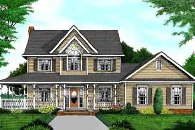 Country Style House Plan - 4 Beds 3.5 Baths 2457 Sq/Ft Plan #11-217