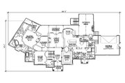Traditional Style House Plan - 5 Beds 6 Baths 3646 Sq/Ft Plan #5-339 Floor Plan - Main Floor