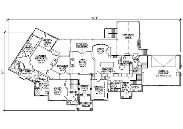 Traditional Floor Plan - Main Floor Plan Plan #5-339