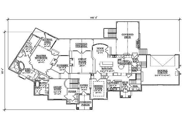 House Plan Design - Traditional Floor Plan - Main Floor Plan #5-339