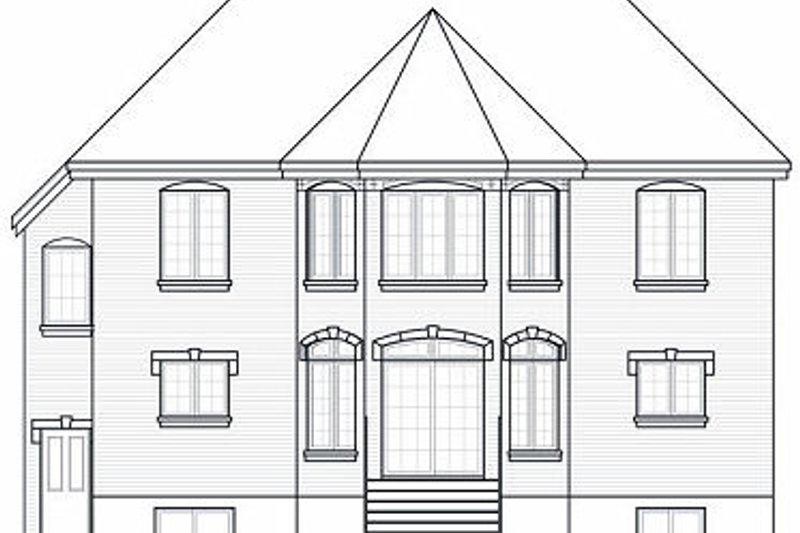European Exterior - Rear Elevation Plan #23-865 - Houseplans.com