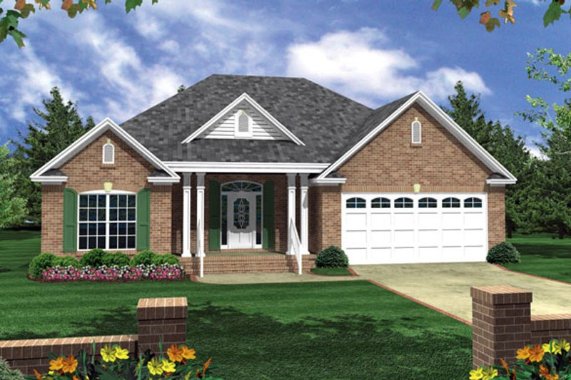 Ranch Exterior - Front Elevation Plan #21-182