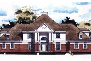 Southern Exterior - Front Elevation Plan #320-366