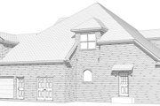 Traditional Style House Plan - 4 Beds 3.5 Baths 3629 Sq/Ft Plan #63-213 Exterior - Other Elevation