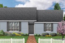Ranch Exterior - Front Elevation Plan #84-472