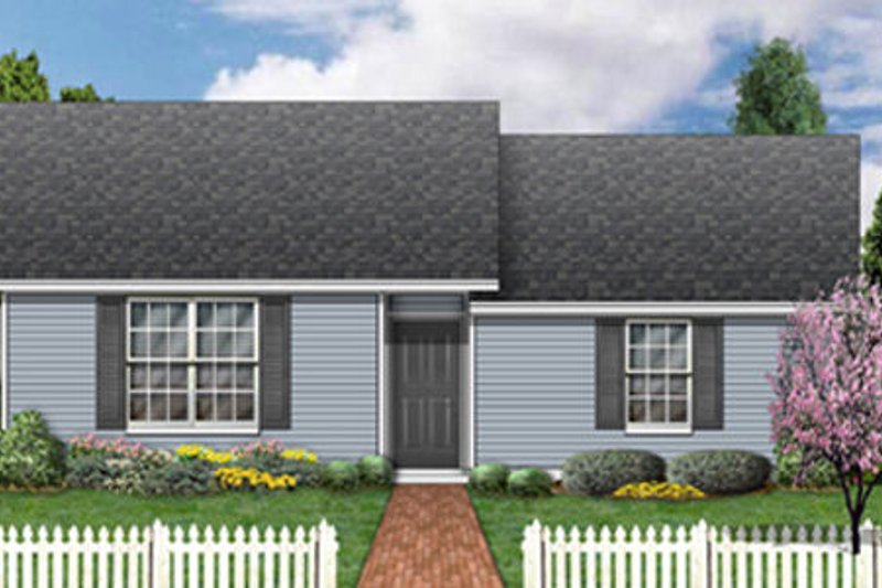 Ranch Exterior - Front Elevation Plan #84-472 - Houseplans.com