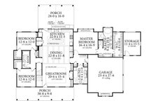 Farmhouse Floor Plan - Main Floor Plan Plan #406-9653