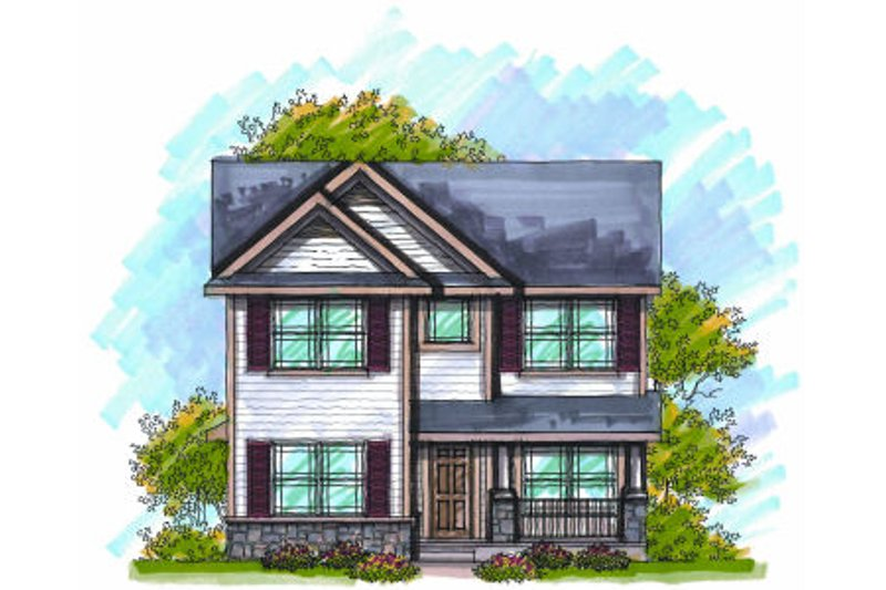 Home Plan - Bungalow Exterior - Front Elevation Plan #70-966