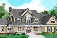 House Plan Design - Country Exterior - Front Elevation Plan #11-223