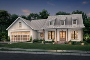 Farmhouse Exterior - Front Elevation Plan #430-241