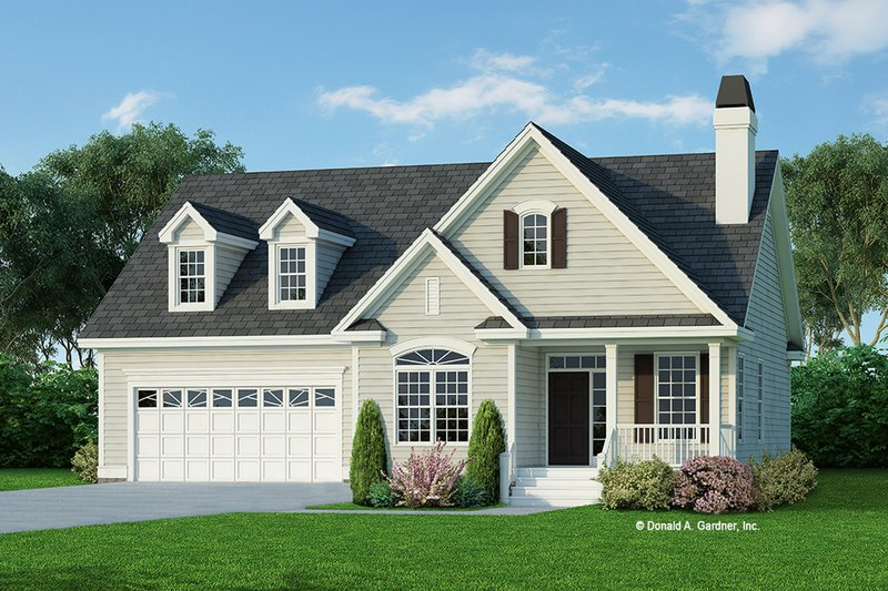 Architectural House Design - Country Exterior - Front Elevation Plan #929-566