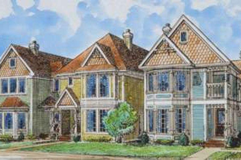 Victorian Exterior - Front Elevation Plan #410-292 - Houseplans.com