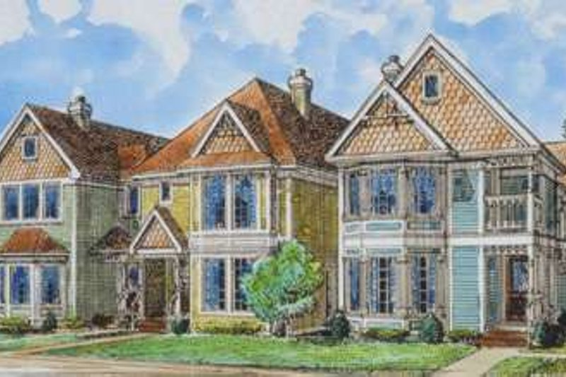 Home Plan - Victorian Exterior - Front Elevation Plan #410-292